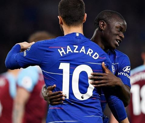 Hazardeden_10 torments the Burnley defence before laying it on a plate for Nglkante to smash home from 12 yards making it 1-1