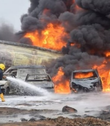 Lagos Pipeline Explosion, 2 Dead, 30 Vehicles Burnt