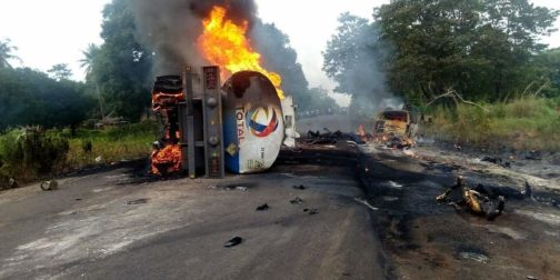 Benue Tanker Explosion: 35 Villagers Roasted To Death