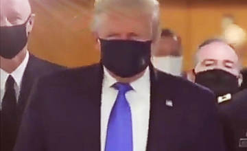 Donald Trump Finally Bowed To Covid-19 Wears Mask In Public