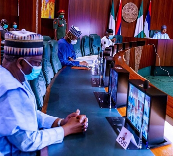 The Protesting Youth And The Hoodlums Who To Blame-As Buhari On Virtual Meeting